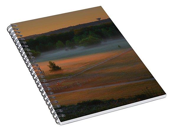 Morning Mist Over Dyarna #h7 Spiral Notebook