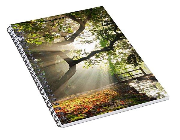 Morning Sunrise In Hampden Park Spiral Notebook