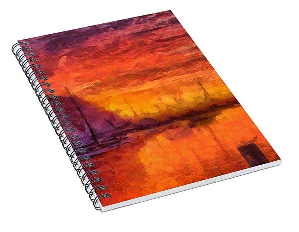 Morro Bay Marina Spiral Notebook