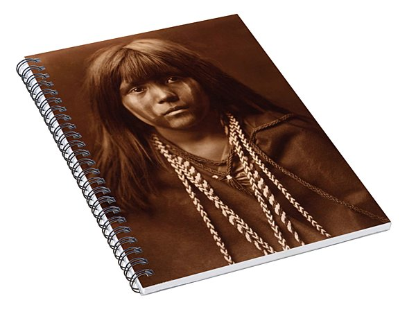 Mosa, Mohave Girl, By Edward S. Curtis, 1903 Spiral Notebook