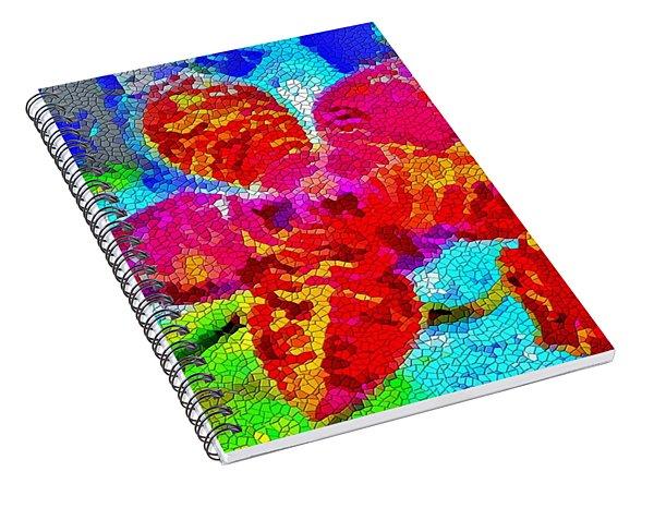 Mosaic Orchid Spiral Notebook