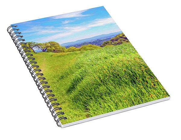 Mount Wanda Digital Watercolor Spiral Notebook