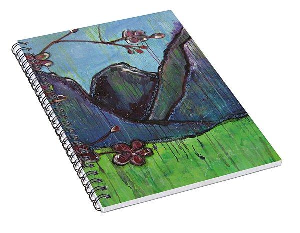 Copper Mountain Pose Spiral Notebook