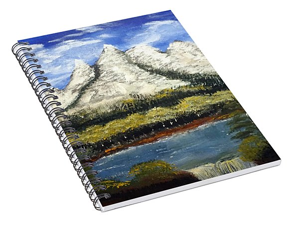 Mountains And Evergreens Spiral Notebook