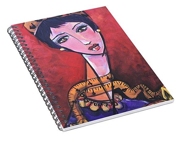 Ms. Bimba Fashionable Seamstress Spiral Notebook