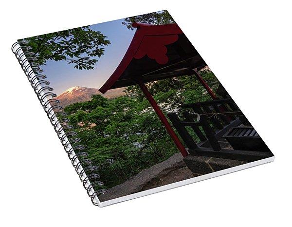 Mt Fuji From Ubuyagasaki Shrine Spiral Notebook