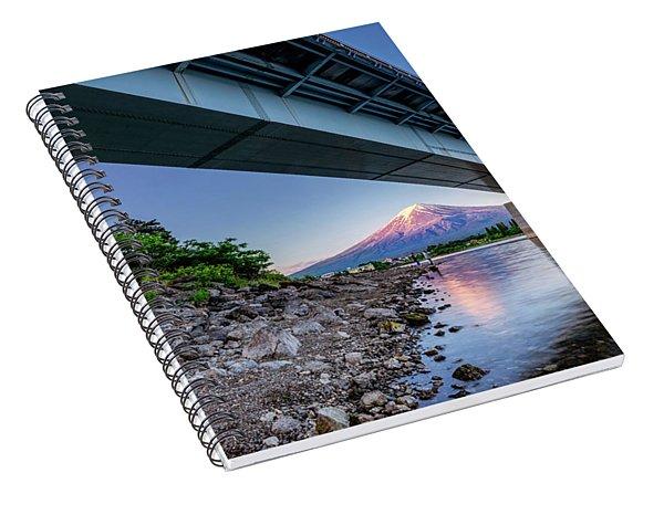 Mt Fuji - Under The Bridge Spiral Notebook