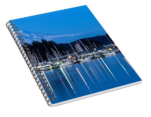 Mt. Rainier From Gig Harbor Spiral Notebook