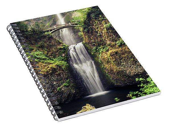 Multnomah Falls Lower Spiral Notebook