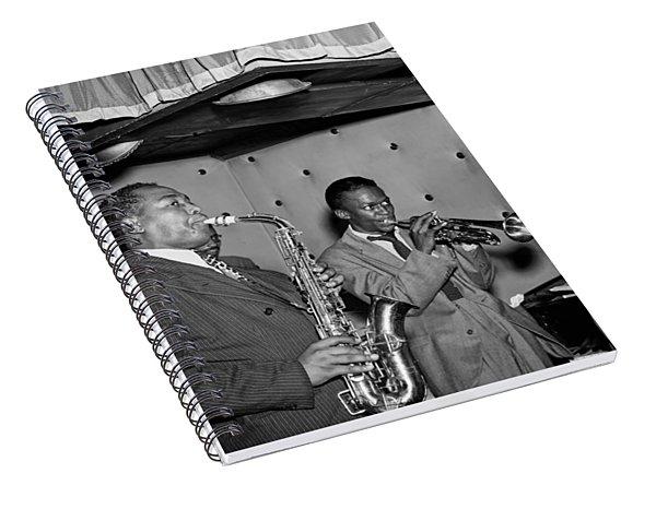 Music's Golden Era - Charlie Parker And Miles Davis 1947 Spiral Notebook
