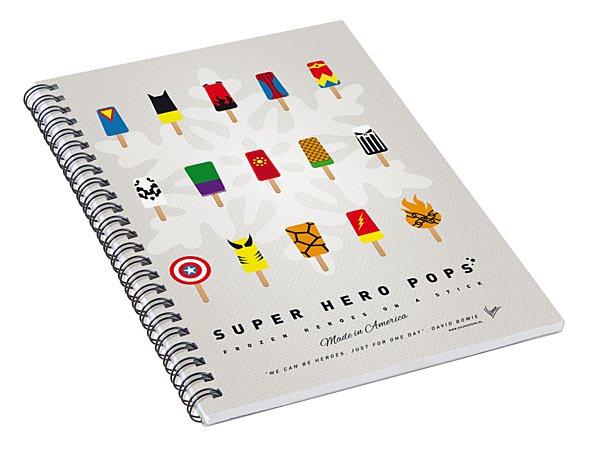 My Superhero Ice Pop - Univers Spiral Notebook