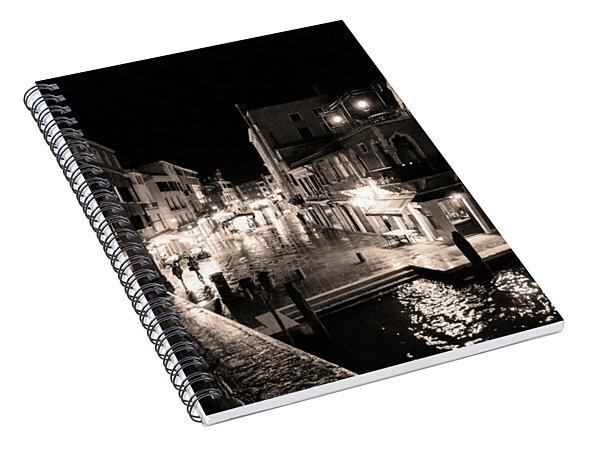 Mysterious Venice Monochrom Spiral Notebook