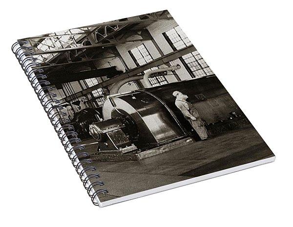 Nanticoke Pa Electrical Generators Glen Alden Mines Power Plant 1945 Spiral Notebook