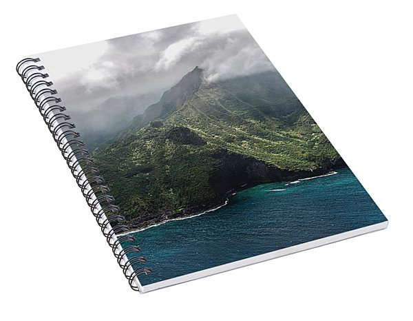 Napali Coast In Clouds And Fog Spiral Notebook