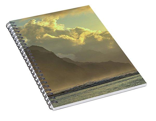 Napali Coast Kauai Hawaii Dramatic Sunset Spiral Notebook