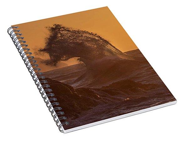 Napali Coast Kauai Hawaii Wave Explosion Iv Spiral Notebook