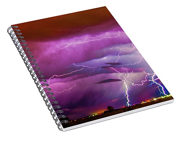 Nasty But Awesome Late Night Lightning 008 Spiral Notebook
