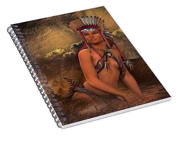 Native American Woman... Abedabun Spiral Notebook