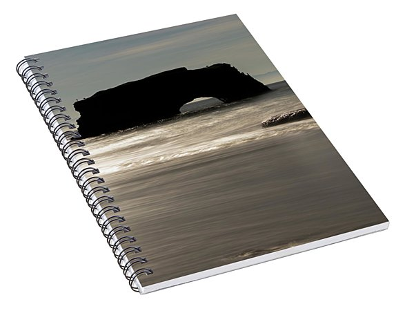 Natural Bridges State Beach Water Spiral Notebook