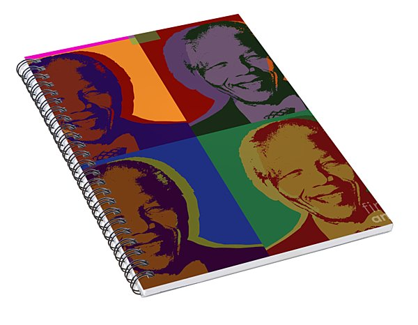 Nelson Mandela Pop Art Spiral Notebook