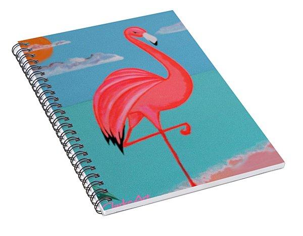 Neon Island Flamingo Spiral Notebook