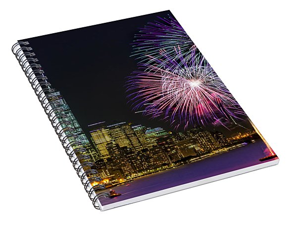 New York City Summer Fireworks Spiral Notebook