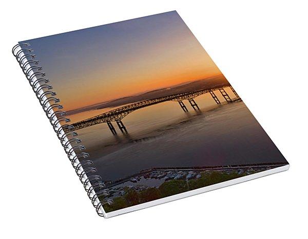 Newburgh-beacon Bridge May Sunrise Spiral Notebook