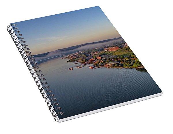 Newburgh Waterfront At Sunrise Spiral Notebook