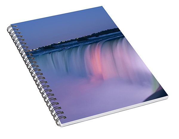 Niagara Falls At Dusk Spiral Notebook