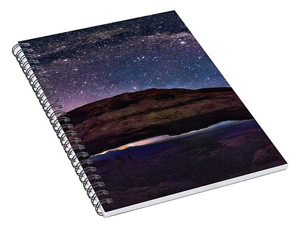 Night Sky Over Mesa Arch Utah Spiral Notebook