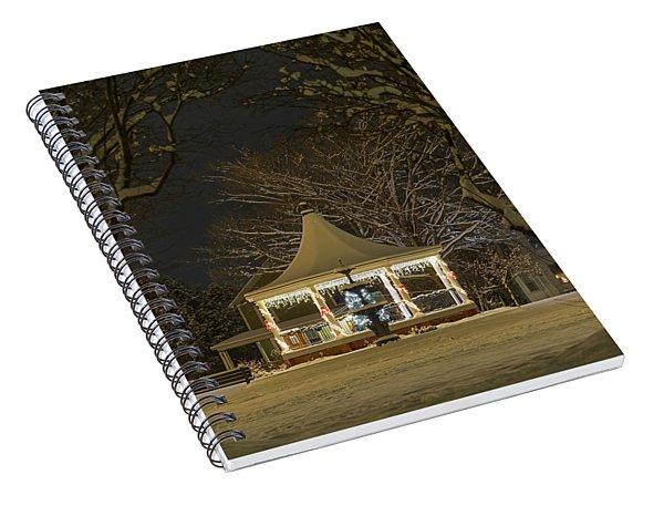 Nighttime Gazebo Spiral Notebook