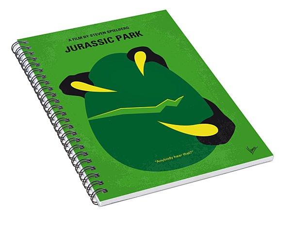 No047 My Jurassic Park Minimal Movie Poster Spiral Notebook