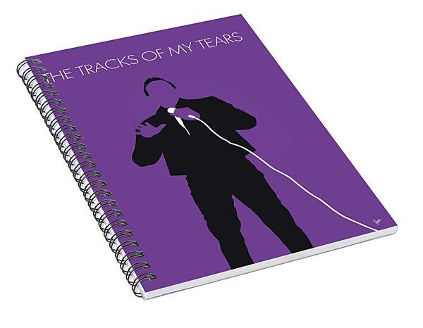 No161 My Smokey Robinson Minimal Music Poster Spiral Notebook