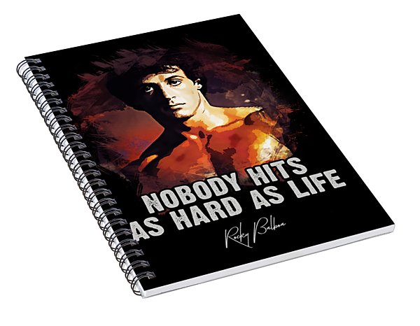 Nobody Hits As Hard As Life Spiral Notebook