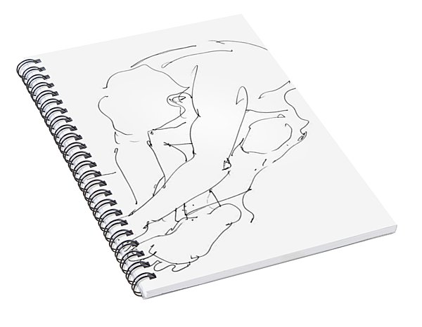 Nude Male Drawings 8 Spiral Notebook