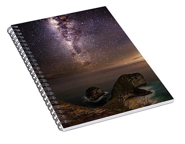 Spiral Notebook featuring the photograph Nusa Penida Beach At Night by Pradeep Raja Prints