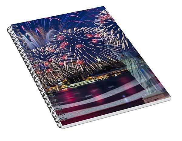 Nyc Fourth Of July Celebration Spiral Notebook