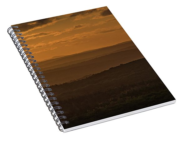 October Sunset In Acadia Spiral Notebook