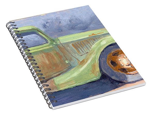 Old Green Ford Spiral Notebook