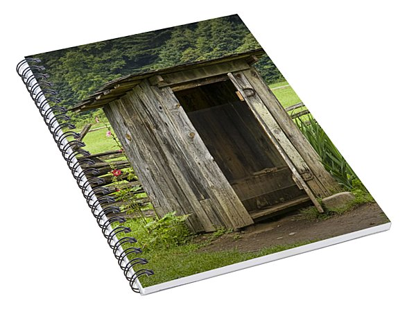 Old Outhouse On A Farm In The Smokey Mountains Spiral Notebook