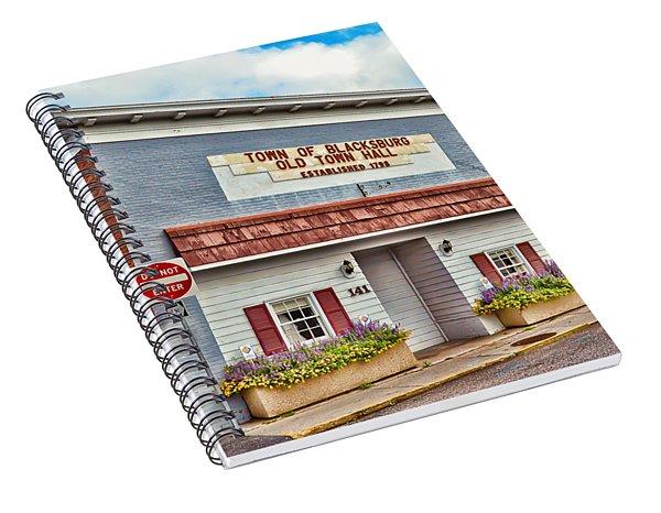 Old Town Hall Blacksburg Virginia Est 1798 Spiral Notebook
