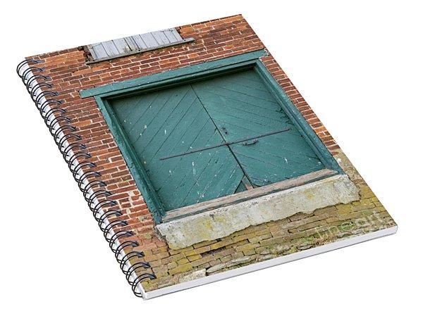 Old Warehouse Loading Door Spiral Notebook
