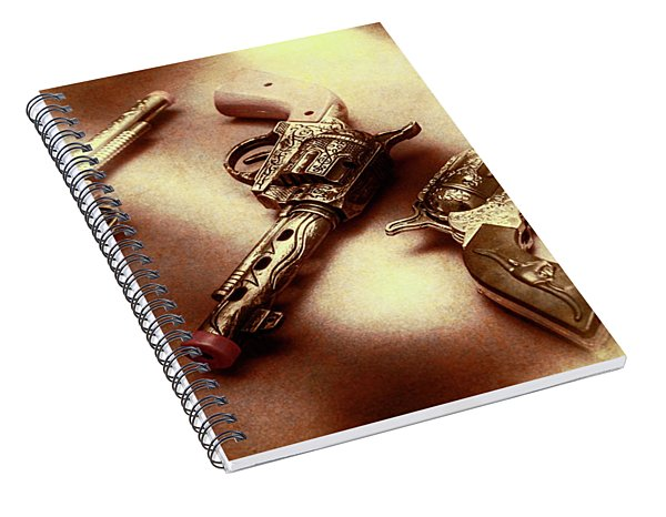 Old Western At Play Spiral Notebook