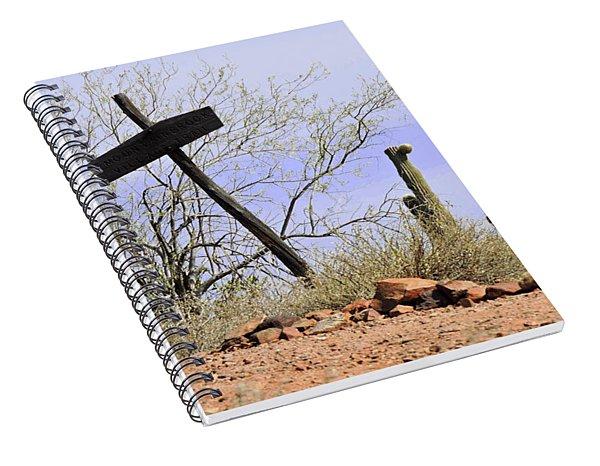 Old Wooden Cross Spiral Notebook