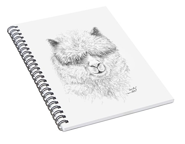 Spiral Notebook featuring the drawing Omily by K Llamas