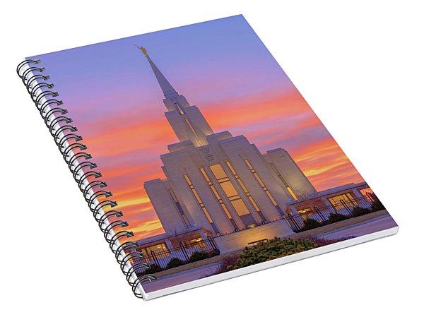 Oquirrh Mountain Temple IIi Spiral Notebook