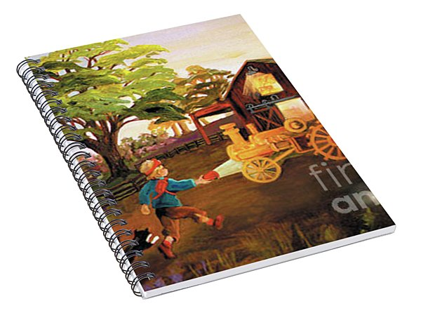 Orchard And Barn Spiral Notebook