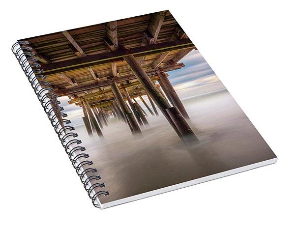 Outer Banks Nc Seascape Nags Head North Carolina Spiral Notebook