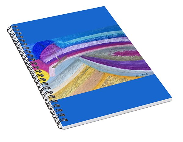 Spiral Notebook featuring the painting Over The Waves by Norma Duch
