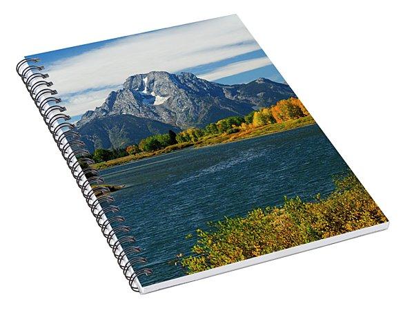 Oxbow Bend In Autumn Borderless Spiral Notebook